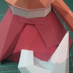 วิธีทำโมเดลกระดาษตุ้กตาคุกกี้รัน คุกกี้รสจิ้งจอกเก้าหาง (Cookie Run Nine Tails Cookie Papercraft Model) 016
