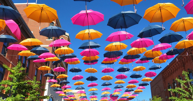 Floating Umbrellas