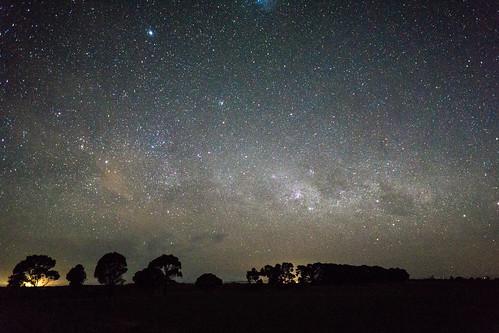 astrophotography nightsky stars landscape outback country australia