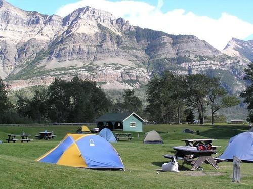 Camping at Waterton-Glacier International Peace Park in Montana