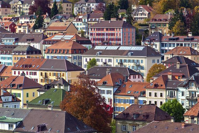 La Chaux-de-Fonds in Autumn Time. No.92.