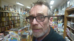 Klaas Knol. In comic book store Lambiek. Kerkstraat . Amsterdam. Buy comics! A safe investment.