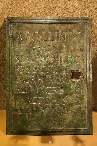plaque de bronze, Museo de Navarra, Pamplona | by jacqueline.poggi