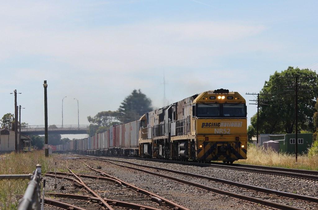 NR52 XRB561 and NR8 coast through Horsham on MA3 Patricks service to Adelaide by bukk05