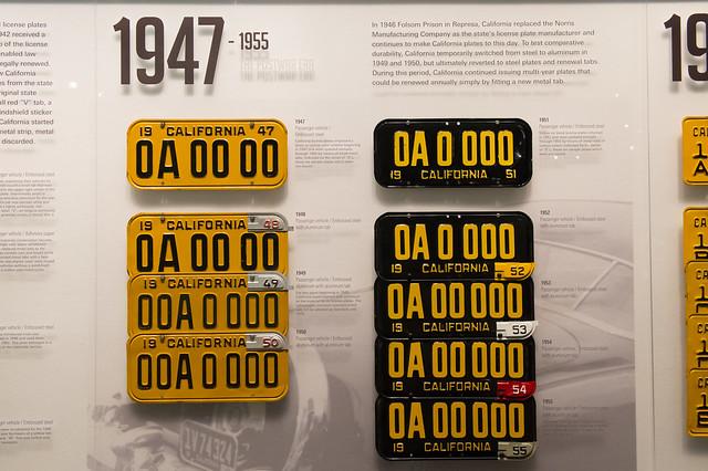 California License Plates 1947-1955