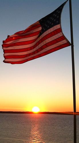 sunset usa flag sunsets adamhall usflag trackhead trackheadstudios trackheadxxx