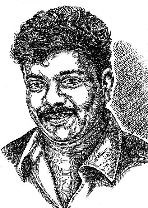 Director and Actor R PARTHIBAN Portrait by Indian Artist A… | Flickr