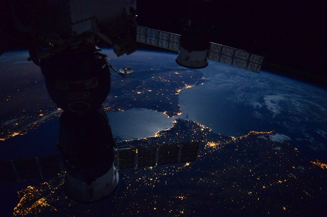 Europe and Africa From the International Space Station