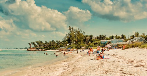 florida usa beach blue clouds heat nature people ocean outdoors pacific palm trees sand sky sunshine travelling tropical bocagrande