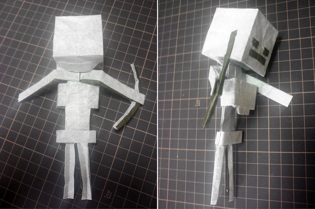Skeleton (Minecraft) | Designed and folded by me. Made