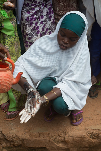 """""""I wash my hands with soap always to remain healthy"""", says a girl child in Bichi, Kano state 