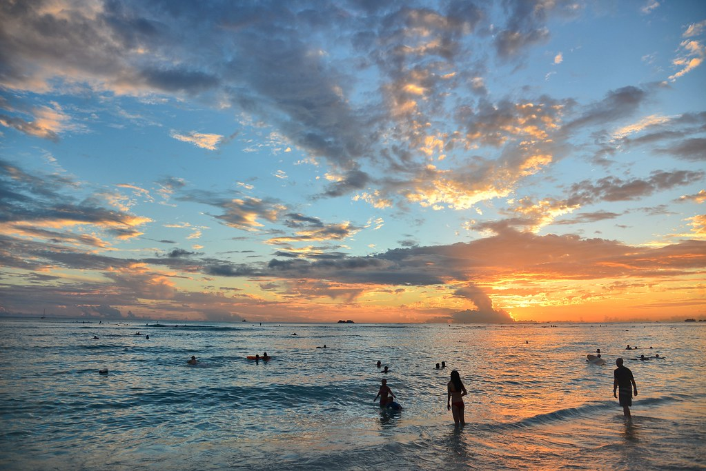 Sunset Waikiki Beach Honolulu Oahu Hawaii Richnew7 Flickr
