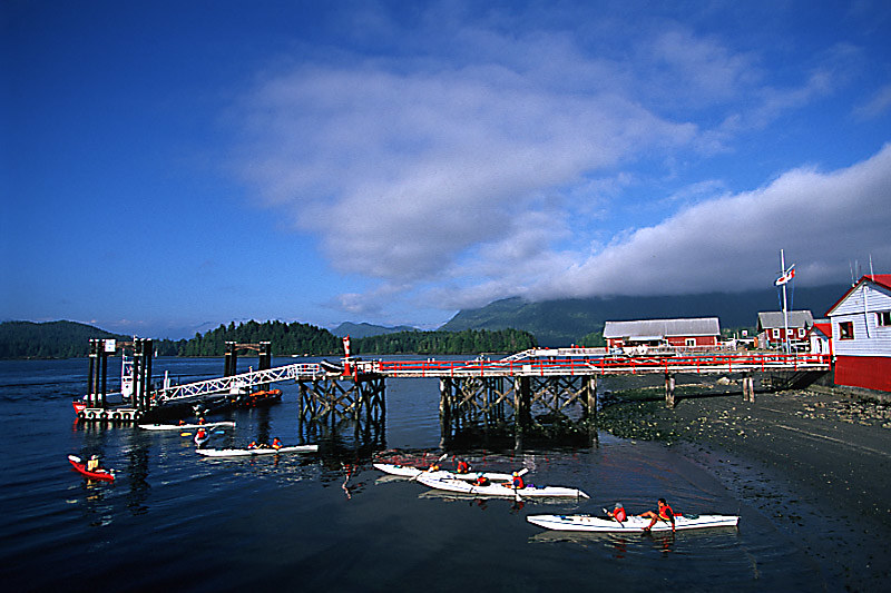 Kayakers in Tofino, West Coast Vancouver Island, British Columbia