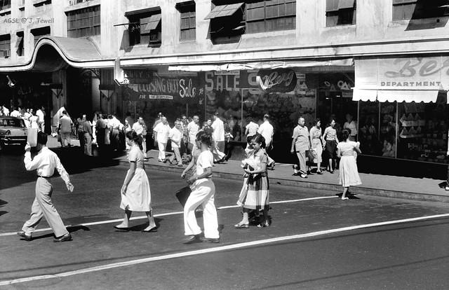 Escolta Street, Manila, Philippines, 1950s