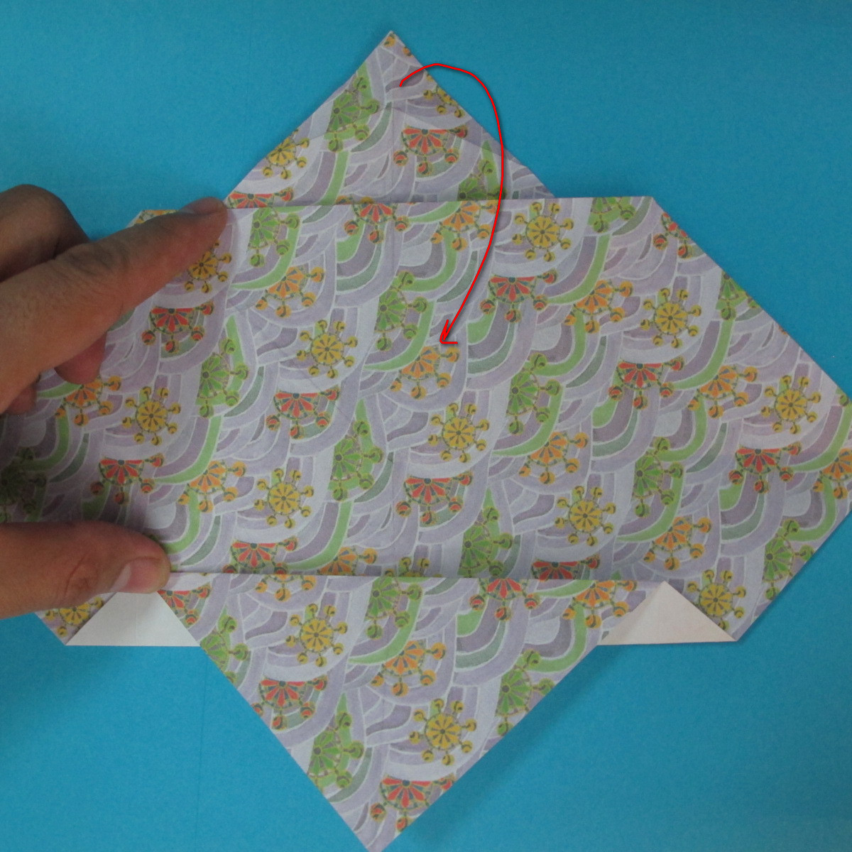 สอนวิธีพับกระดาษเป็นช้าง (แบบของ Fumiaki Kawahata) 024