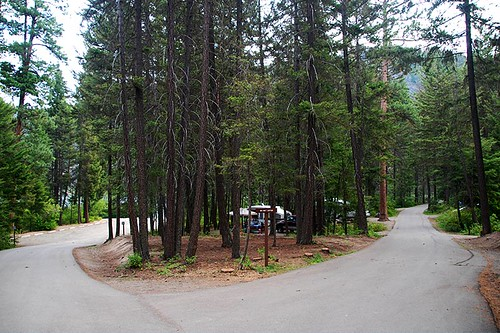 Campground at Otter Lake Provincial Park, Tulameen, Tulameen Valley, Similkameen, British Columbia, Canada