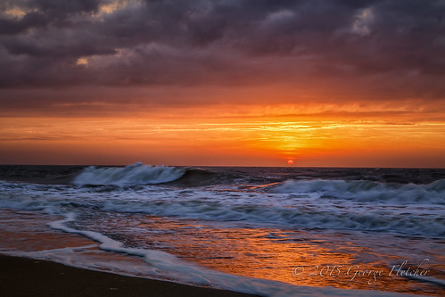 sun clouds sunrise waves unitedstates delaware bethanybeach