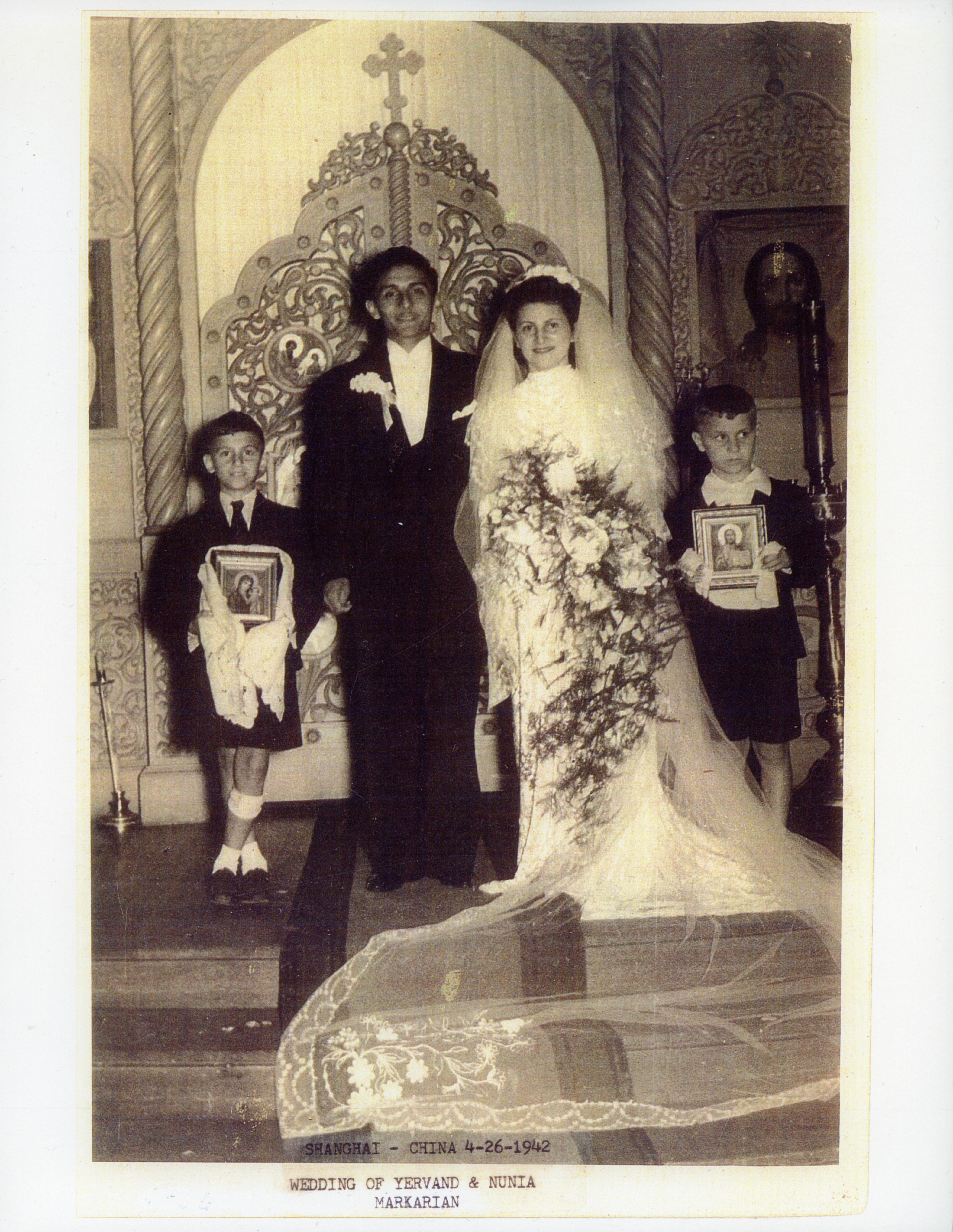 Armenian wedding, Shanghai, China, c. 1942