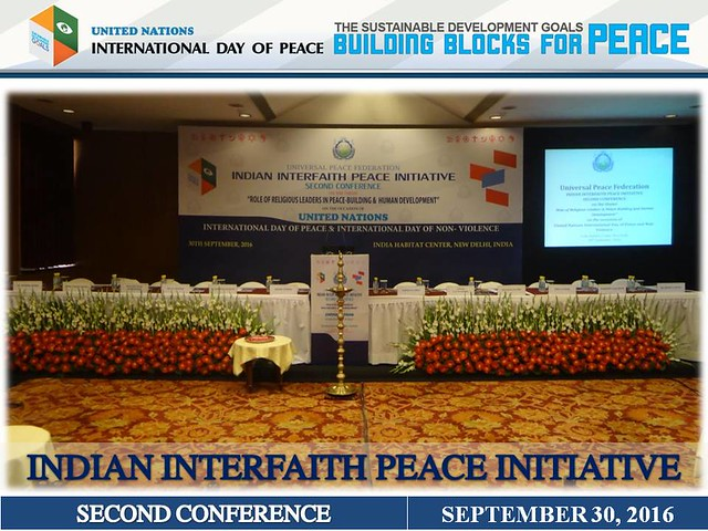 India-2016-09-21-Religious Leaders Gather for Second Indian Interfaith Peace Initiative Conference