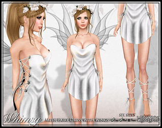 Whimsy Mesh Fairy (White) | by Wisp Jinn [Wishbox]