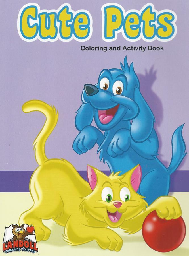 "Landoll Publishing Company :: ""Cute Pets"" Coloring & Activity Book (( 2013 )) by tOkKa"