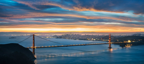 sanfrancisco california ca longexposure morning panorama northerncalifornia sunrise 50mm nikon goldengatebridge goldengate baybridge bayarea d800 nikon50mm18d kevinmacleod nikond800 d800e nikond800e unrangedcom