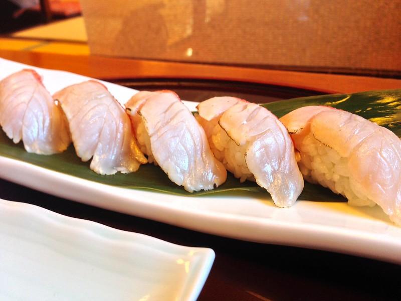 『稲取産金目鯛炙りにぎり』 @『本家鮪屋本店』