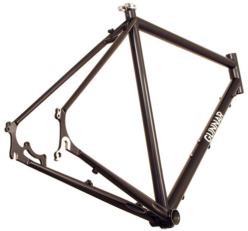 <p>Rear view of Gunnar Fastlane Disc Cross / Commuter/ Touring Frame.  Perhaps our most versatile design ever, the Fastlane offers a comfortable fit, confident handling and durable construction.  With its chainstay mounted disc brakes, you get excellent wet weather braking plus easy rack and fender mounting.</p>
