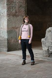 The Smiths Screenprinted Grainline Studio Linden Sweatshirt | by English Girl at Home