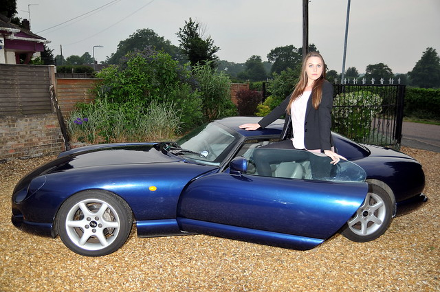 Girl with TVR