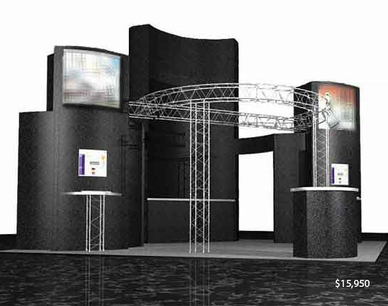 Used Trade Show Booth : Used trade show display black structure wiu flickr
