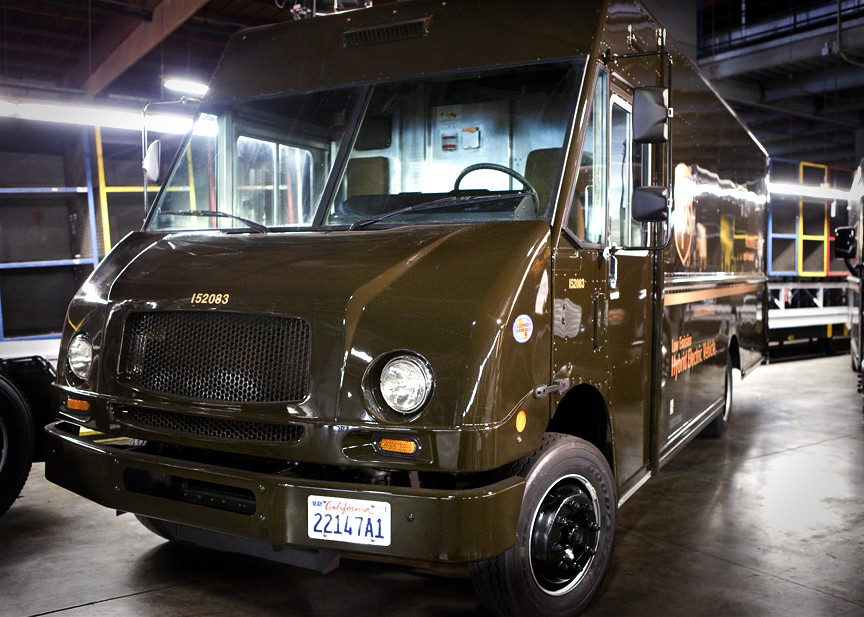 UPS Electric Vehicle Launch Event 2/15/13   California