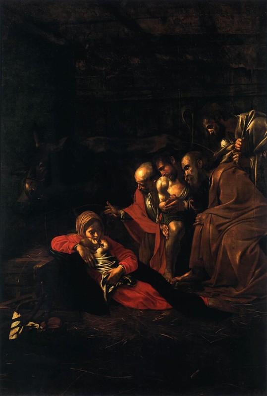 Caravaggio, De aanbidding door de herders (Museo Regionale, Messina)