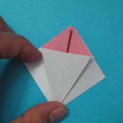 วิธีการพับกระดาษเป็นดอกไม้แปดกลีบ 010