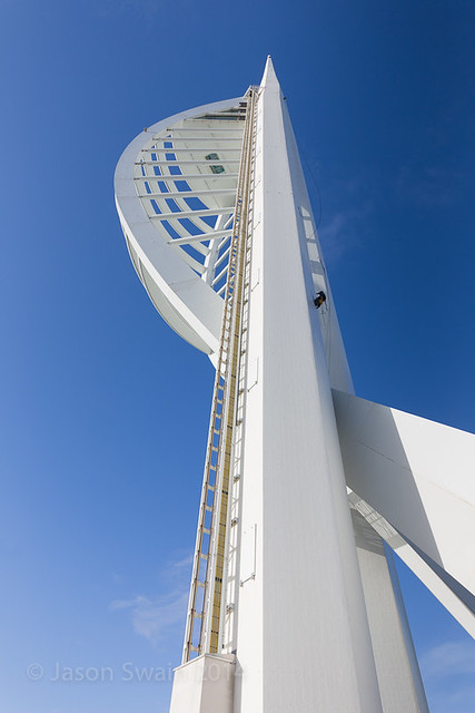 Cleaning the Spinnaker Tower - IMG_9142