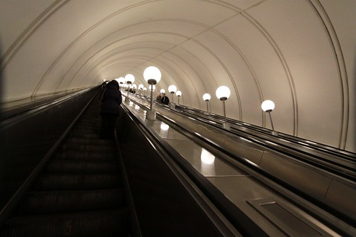Climbing out of the station on the 126 metre long escalator | by Marcus Wong from Geelong