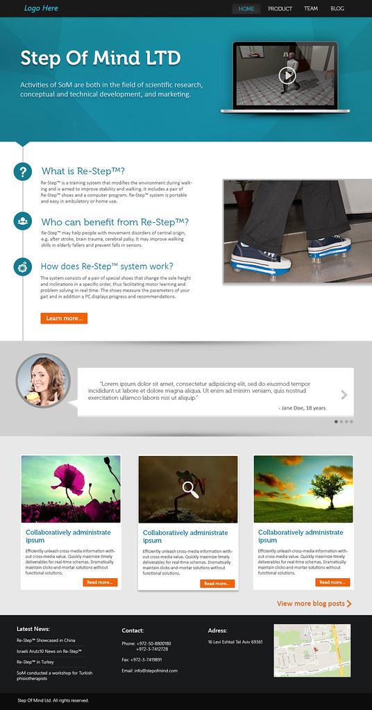 Step Of Mind Website Design Concept
