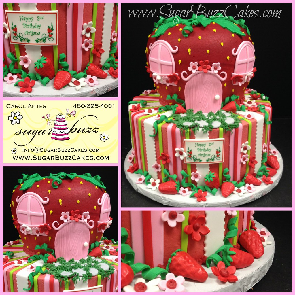 Swell Strawberry Shortcake Birthday Cake Carol Flickr Personalised Birthday Cards Cominlily Jamesorg