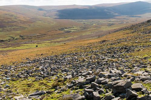 belstone dartmoor nationalpark granite rock clitter valley moorland devon england landscape outdoor