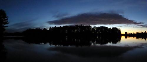 bass lake gwinn upper peninsula michigan sunrise clouds panorama