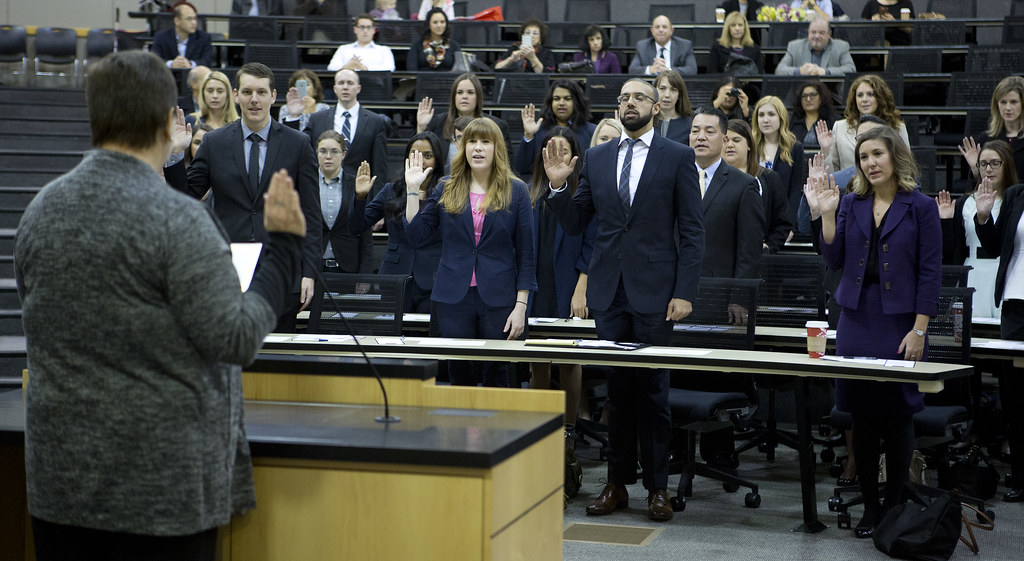 Swearing-In Ceremony for July 2016 California State Bar Pa