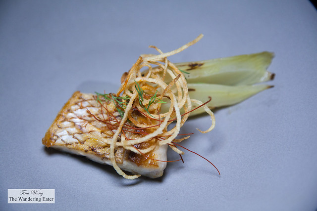 Local grilled fish, roast fennel, fried potao strings