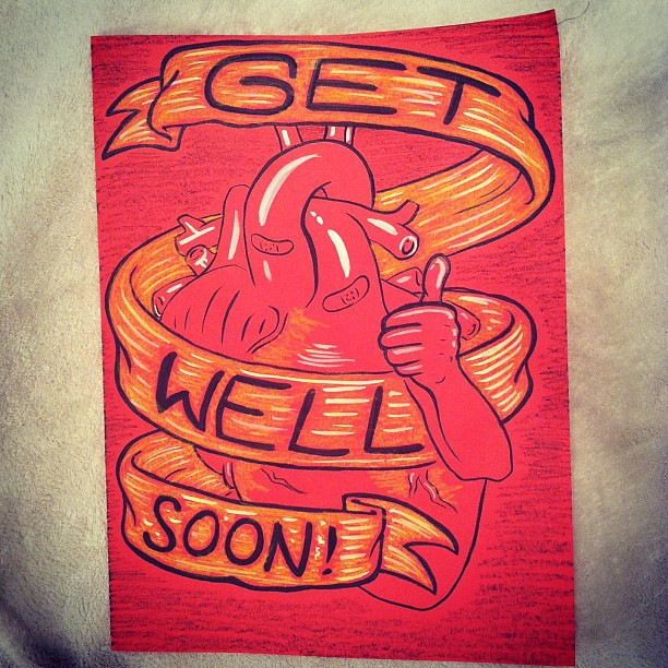 Get Well Soon card made for a friend's heart surgery recov…   Flickr