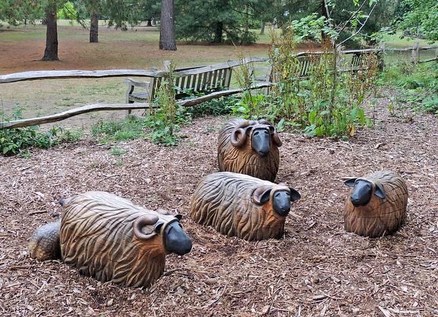 Wooden Sheep, The Royal Botanical Gardens, Kew, London