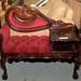 Ornate mahogany telephone table