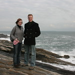 Me and Sarah on the shore