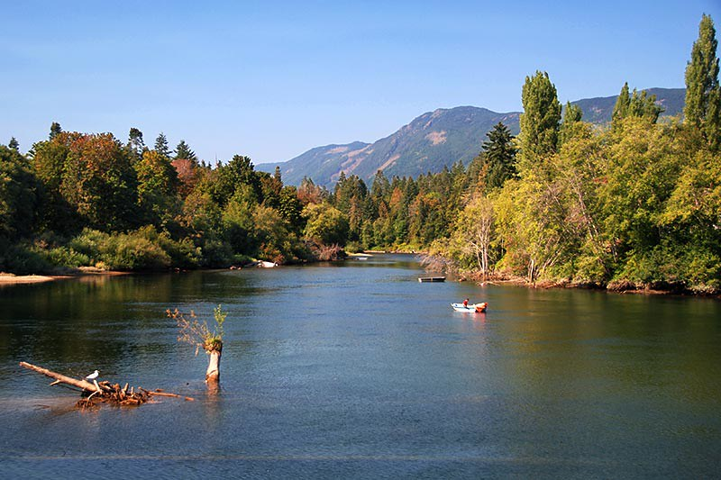 Somass River in Port Alberni, Alberni Valley, Vancouver Island, British Columbia