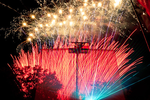 Fireworks and US Flag | by nan palmero