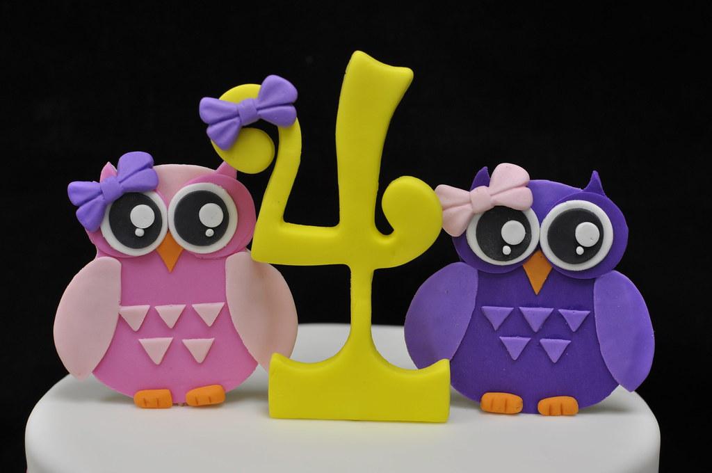 Fantastic Owl Birthday Cake Topper Jenny Wenny Flickr Personalised Birthday Cards Akebfashionlily Jamesorg