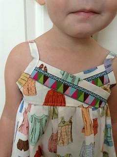 H&F maxi dress, close up of ribbon bodice